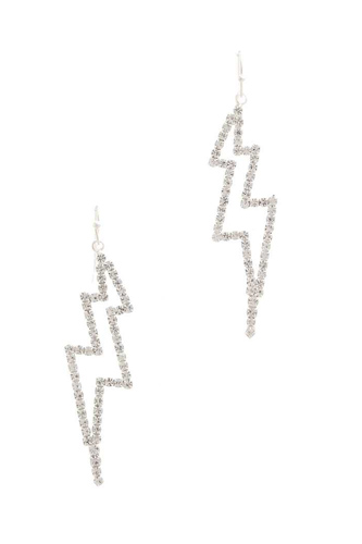 Rhinestone lighting bolt drop earring-id.cc50933