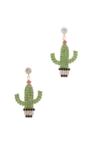 Cactus post drop earring-id.cc50934