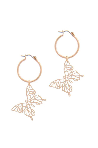 Abstract butterfly hoop earring-id.cc50936