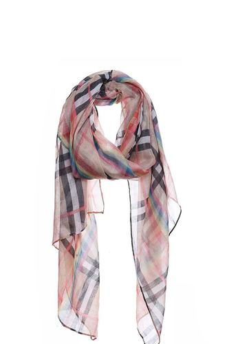 Fashion rainbow modern check scarf-id.cc51005