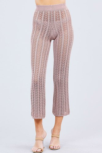 Flare long fishnet sweater pants-id.cc51033a