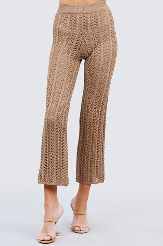 Flare long fishnet sweater pants-id.cc51033b