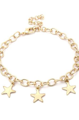 Star charms metal bracelet-id.cc51060