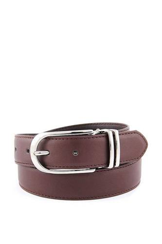 Women clamp round buckle on one-size-fits-all plain feather edged dress belt-id.cc51064