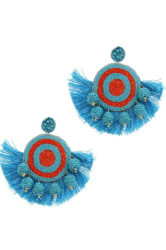 Fashion fan tassel drop earring-id.cc51114
