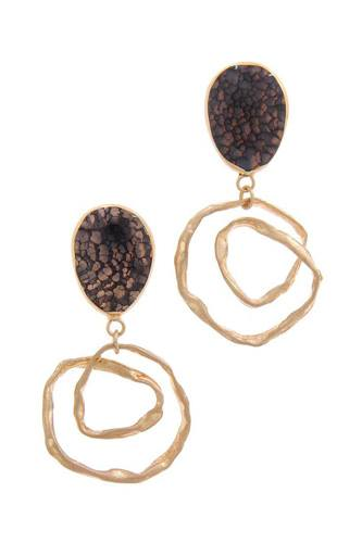 Teardrop shape circle drop earring-id.cc51118