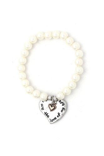 You are the love of my life heart beaded bracelet-id.cc51121