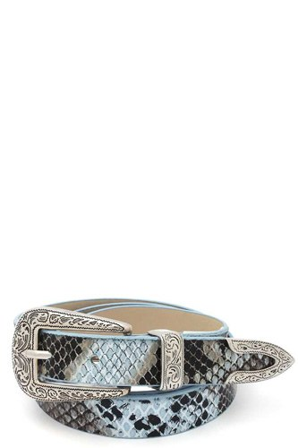 Snake pattern pu leather belt-id.cc511337