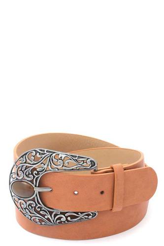 Cut out filiree metal buckle pu leather belt-id.cc511338
