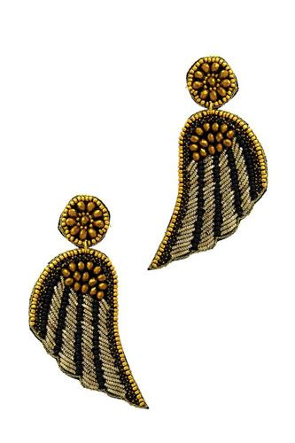 Fashion modern wing patch drop earring-id.cc51164