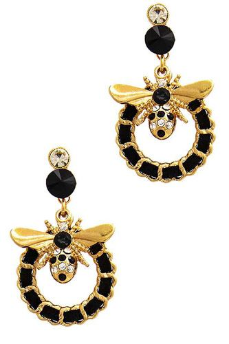 Stylish trendy bee and circle earring-id.cc51168