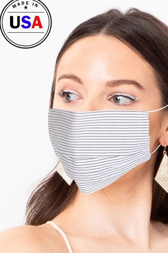 Made in usa unisex fashionable reusable washable, cool breathable fabric face mask-id.cc51194