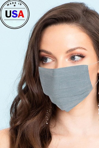 Made in usa unisex fashionable reusable washable cool breathable fabric face mask-id.cc51196