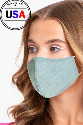 Made in usa unisex fashionable reusable washable cool breathable fabric face mask-id.cc51199