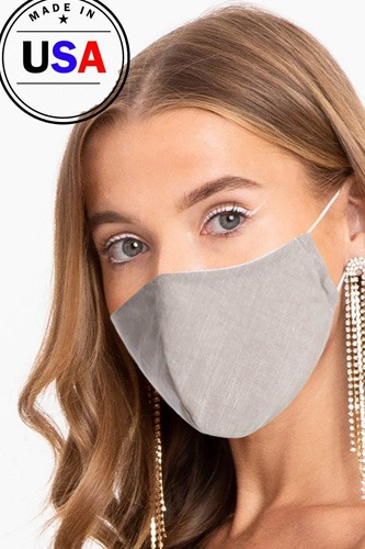 Made in usa unisex fashionable reusable washable cool breathable fabric, 3d face mask-id.cc51200