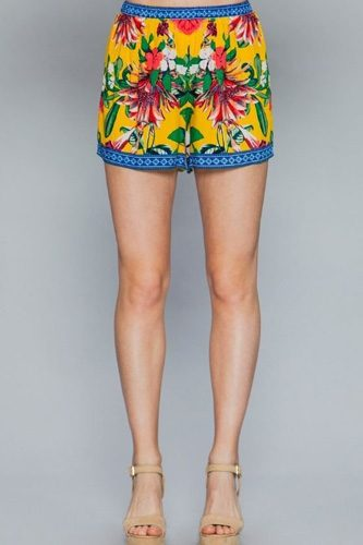 Floral print lounge shorts-id.cc51212