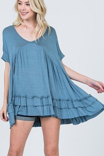 Tiered ruffle detail relaxed top-id.cc51214a