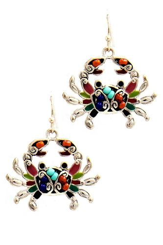 Fashion cute crab charm drop earring-id.cc51249