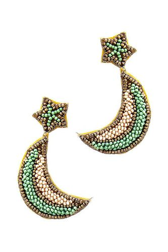 Trendy beaded star and moon earring-id.cc51253