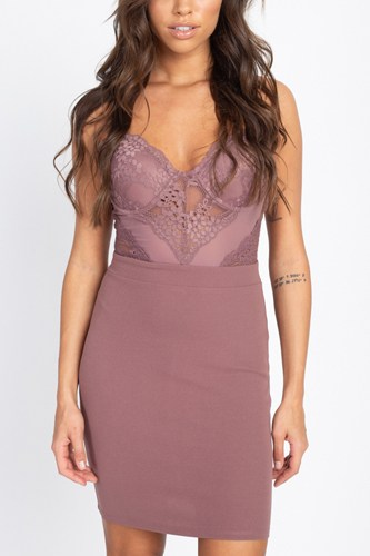 Sheer crochet lace mini dress-id.cc51290