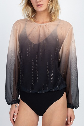 Sheer metallic sequin bodysuit-id.cc51291