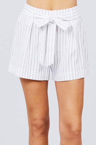 Waist bow tie y/d stripe short pants-id.cc51309b