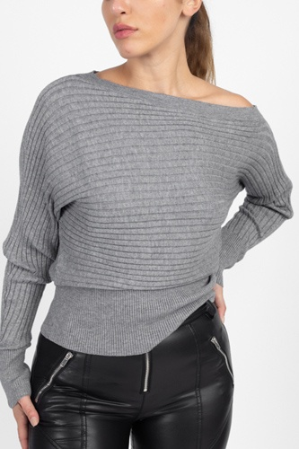 One shoulder ribbed sweater-id.cc51311a