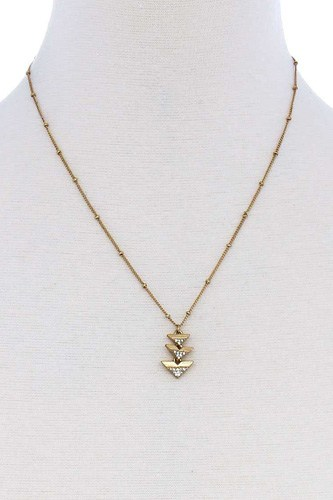 Cute triple triangle pendant necklace-id.cc51318