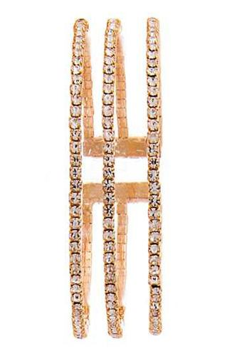 Triple raw fashion rhinestone bracelet-id.cc51334