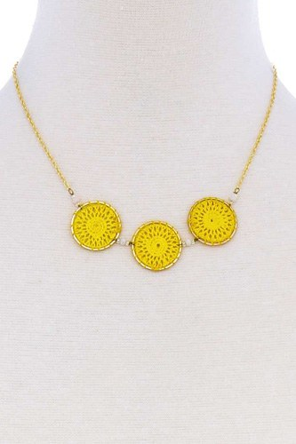 Fashion triple circle pendant necklace-id.cc51393