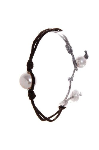 Fashion pearl accent wire bracelet-id.cc51406
