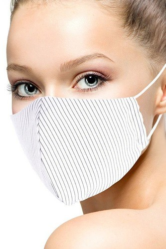 Cotton stripe 3d reusable face mask-id.cc51428