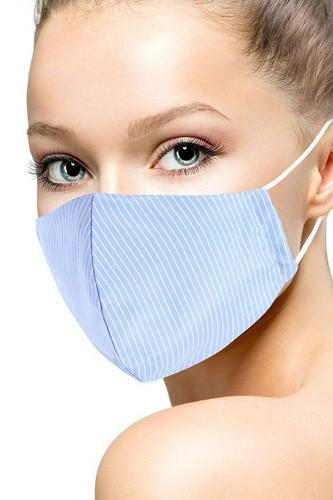 Cotton stripe 3d reusable face mask-id.cc51429