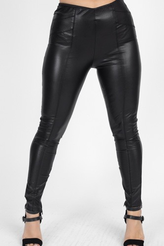 High waist faux leather pants-id.cc51441