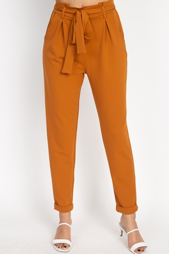 Paperbag self tie pants-id.cc51443