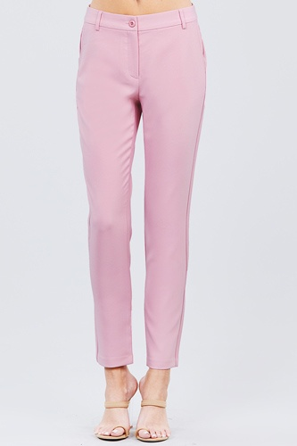 Seam side pocket classic long pants-id.cc51447i