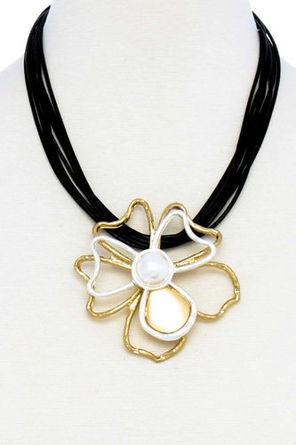Designer stylish flower pendant necklace-id.cc51455