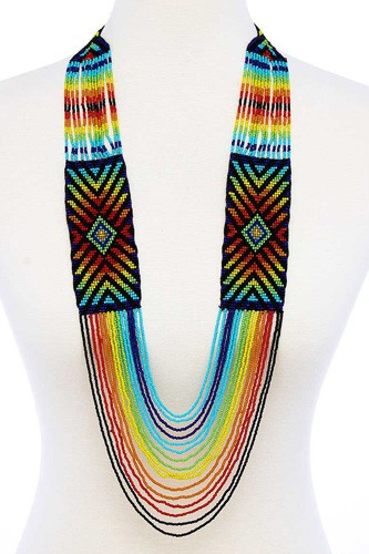 Fashion multi bead ancient pattern long necklace-id.cc51456