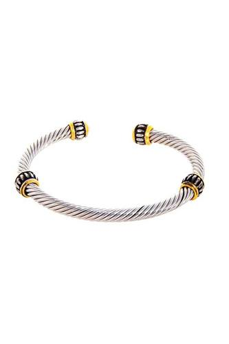 Stylish trendy twisted wire bracelet-id.cc51466