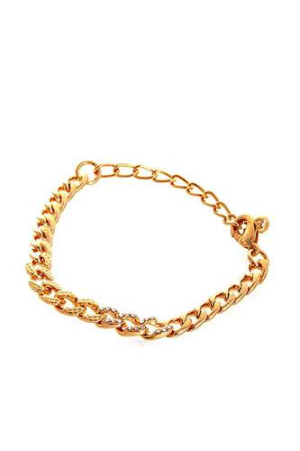 Stylish rhinestone accent thick chain bracelet-id.cc51467