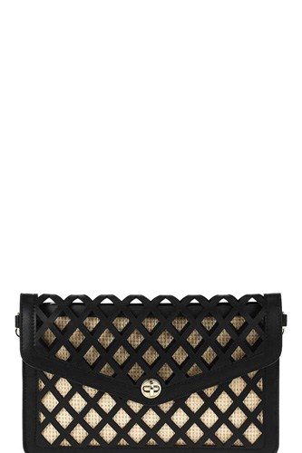 Stylish diamond cut out envelope clutch with shoulder strap-id.cc51472