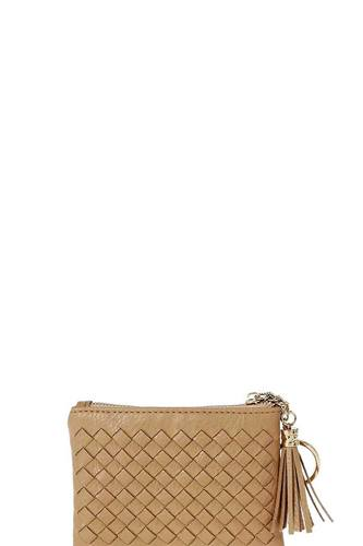 Cute braided zip top coin key wallet-id.cc51474
