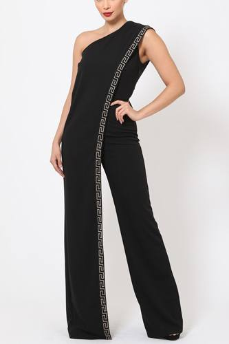 One shoulder greek border pattern jumpsuit-id.cc51499