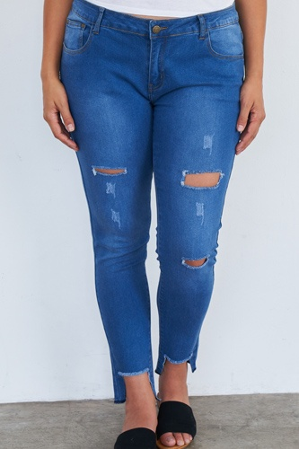 Plus size medium blue ripped pants-id.cc51532