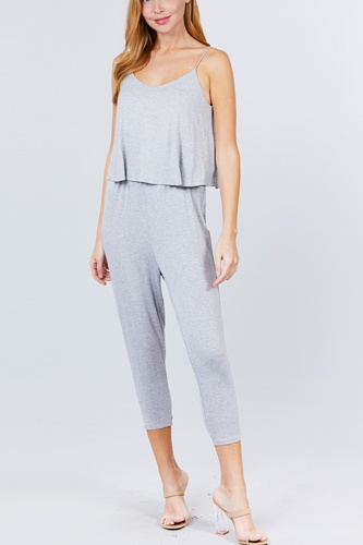 Cami layered top capri knit jumpsuit-id.cc51542a