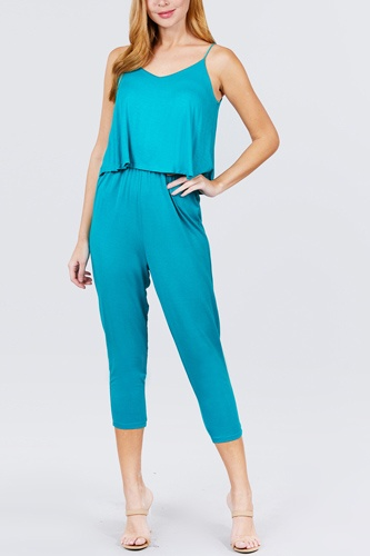 Cami layered top capri knit jumpsuit-id.cc51542c