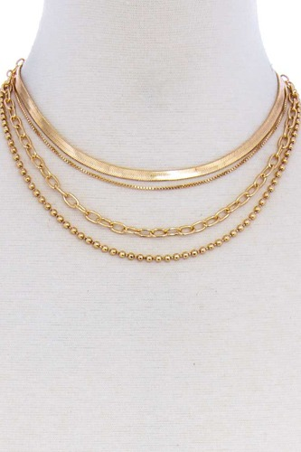 4 layers multi chain necklace choker-id.cc51705