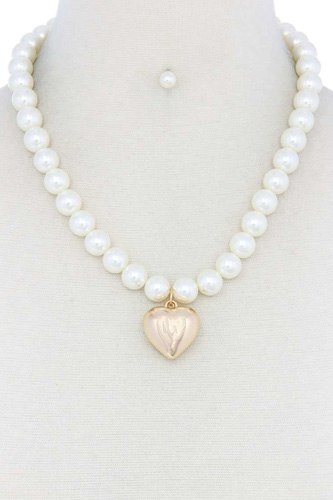 Puffy heart pearl necklace-id.cc51782