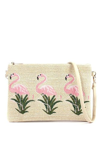 Flamingo embroidered pouch-id.cc517979