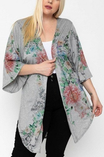 Floral print, long body cardigan-id.cc51814c